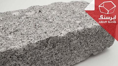 تصویری نزدیک از سنگ گرانیت برای بررسی کیفیت