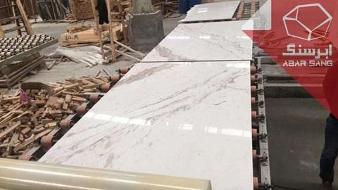 تصویری از فرآوری سنگ مرمریت با کیفیت در کارخانه