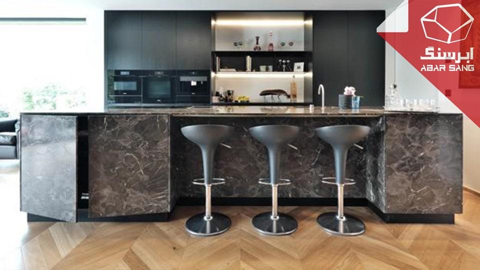 تصویری از کاربرد مرمریت در آشپزخانه