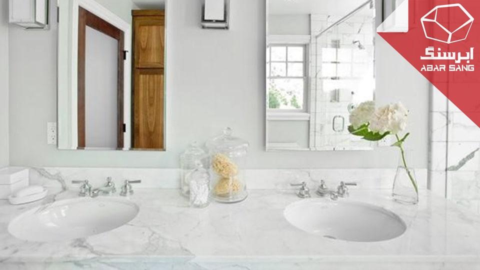 تصویری از استفاده از مرمریت در حمام