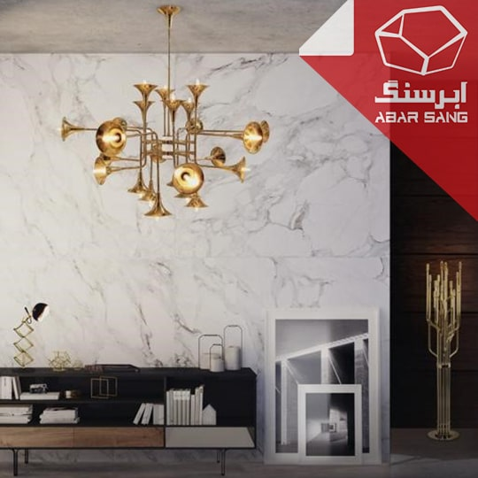 تصویری از کاربرد مرمریت در دیوارهای داخلی